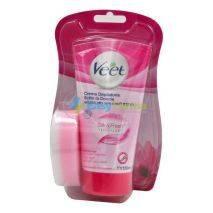 Veet Silk & Fresh Tecnology Crema Depilatoria Sotto la Doccia Pelli Normali 150 ml + Spugna | Offerta